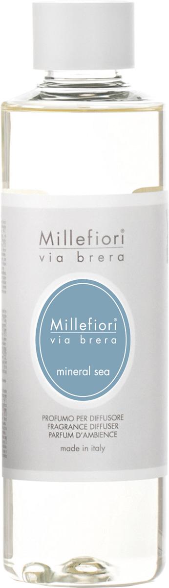Ароматизатор Millefiori Milano Via Brera, минеральное море, сменный блок, 250 мл сменный флакон для диффузора millefiori milano ягодный восторг berry delight 250 мл