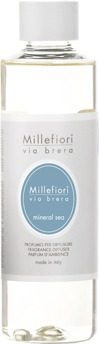 Ароматизатор Millefiori Milano Via Brera, минеральное море, сменный блок, 250 мл ароматизатор millefiori milano via brera сандаловое дерево сменный блок 250 мл