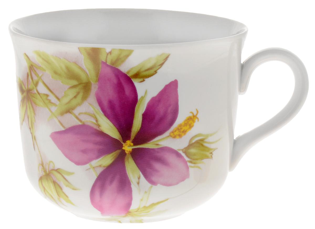 Чашка чайная Дулевский Фарфор Ностальгия. Альпийские цветы, 450 мл065662Чашка Дулевский Фарфор выполнена из высококачественного фарфора и оформлена оригинальным рисунком. Посуда из такого материала позволяет сохранить истинный вкус напитка, а также помогает ему дольше оставаться теплым.