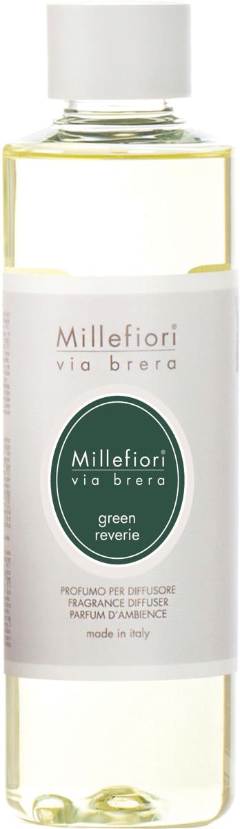 Ароматизатор Millefiori Milano Via Brera, свежесть зелени, сменный блок, 250 мл ароматизатор millefiori milano via brera сандаловое дерево сменный блок 250 мл