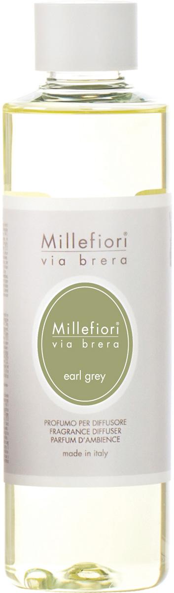 Ароматизатор Millefiori Milano Via Brera, бергамот, сменный блок, 250 мл ароматизатор millefiori milano natural яблоко и корица сменный блок 250 мл