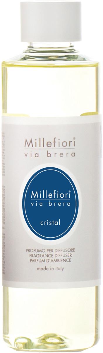Ароматизатор Millefiori Milano Via Brera, кристалл, сменный блок, 250 мл ароматизатор millefiori milano natural яблоко и корица сменный блок 250 мл