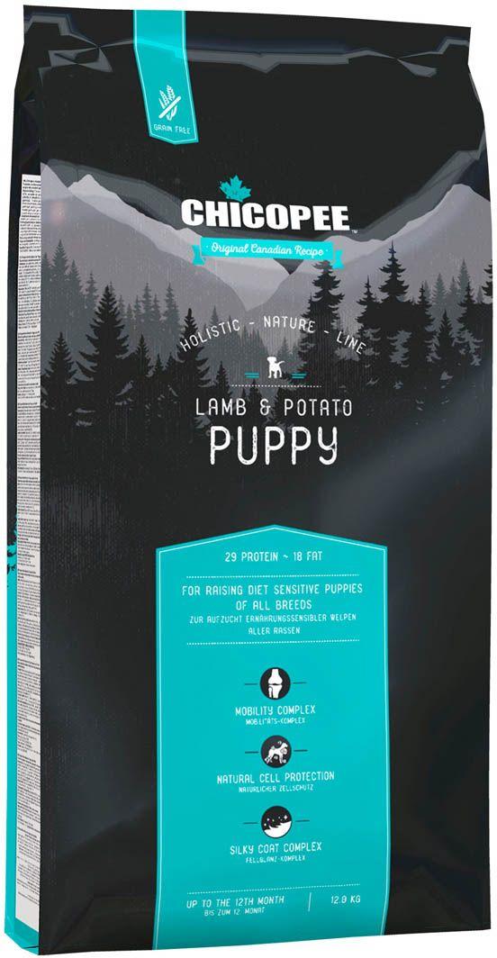 Корм сухой Chicopee HNL Puppy Lamb & Potato, для щенков, с ягненком и картофелем, 12 кг