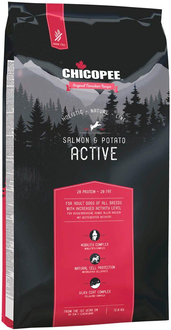 Сухой корм Chicopee  HNL Active Salmon & Potato , для активных собак всех пород, с мясом лосося и картофелем, 12 кг - Корма и лакомства