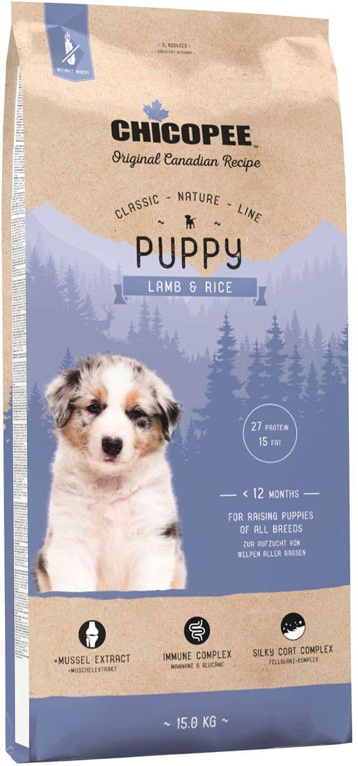 Корм сухой Chicopee  CNL Puppy Lamb & Rice , для щенков всех пород, с ягненком и рисом, 15 кг - Корма и лакомства