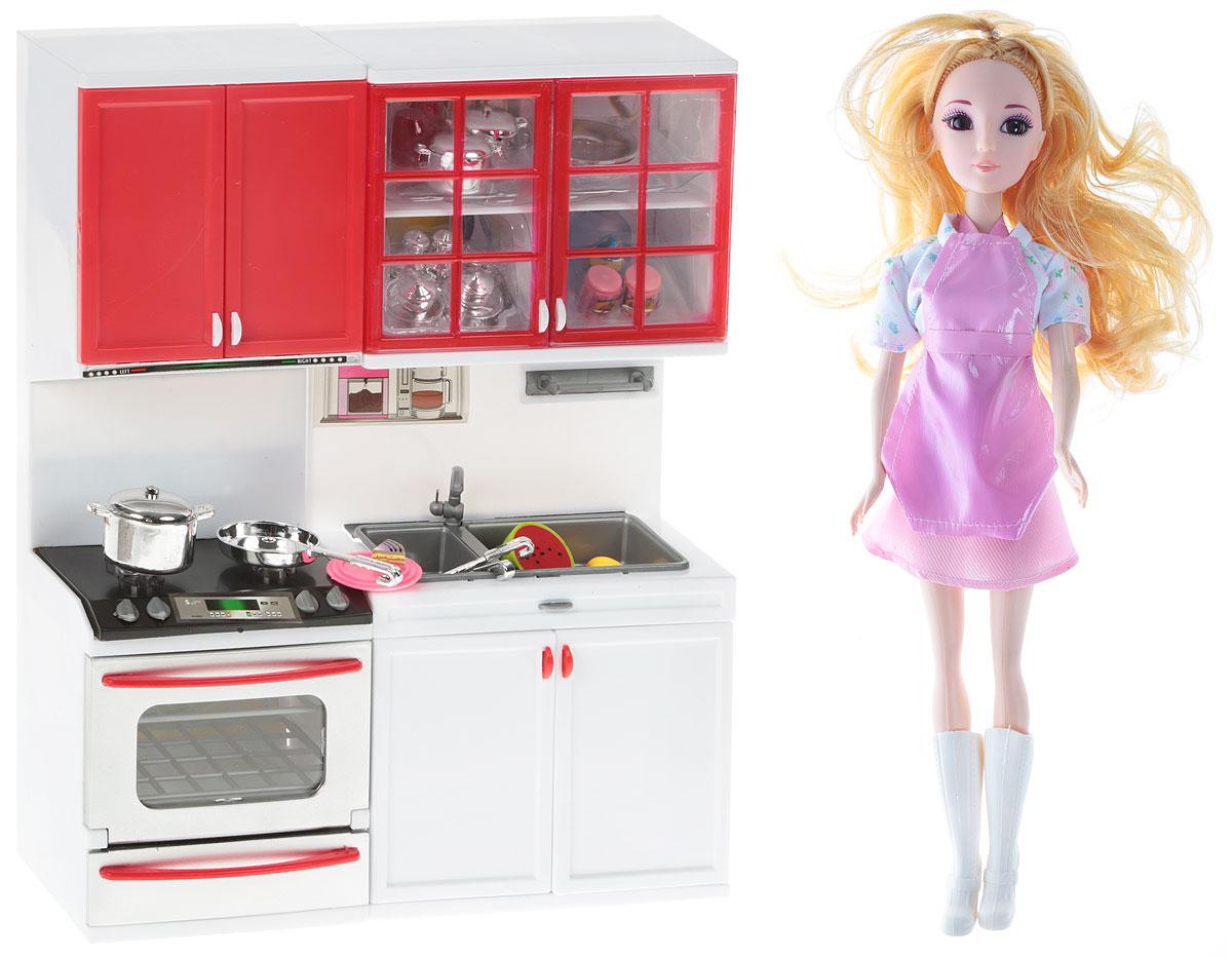 DollyToy Мебель для кукол Чудесная хозяюшка цвет красный белый dollytoy мебель для кукол книжный шкаф