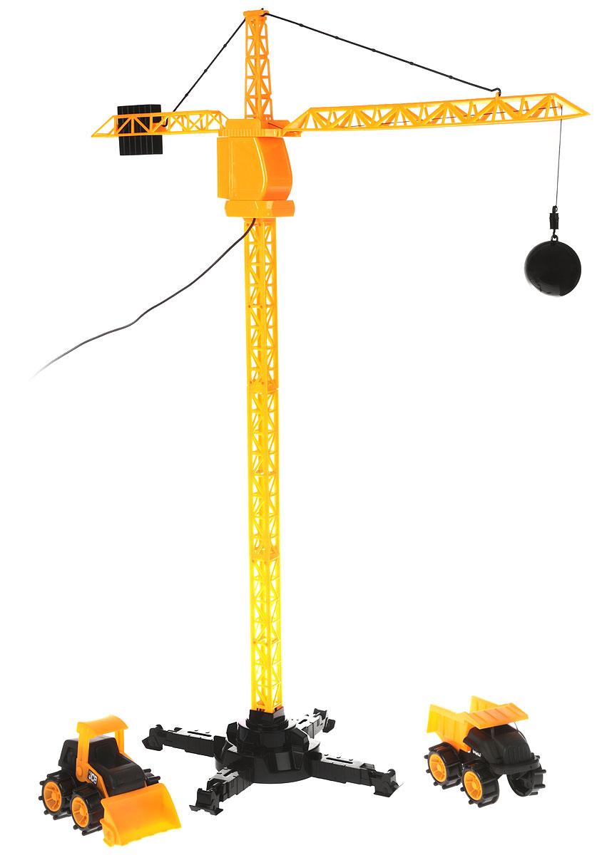 HTI Башенный кран JCB на дистанционном управлении с самосвалом и погрузчиком экскаваторы погрузчики jcb 4cx продать купить в украине