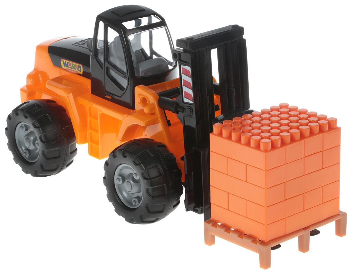 Полесье Автокар + Конструктор Супер-Микс цвет оранжевый черный автокар конструктор полесье mammoet 15 элементов в сеточке 62734