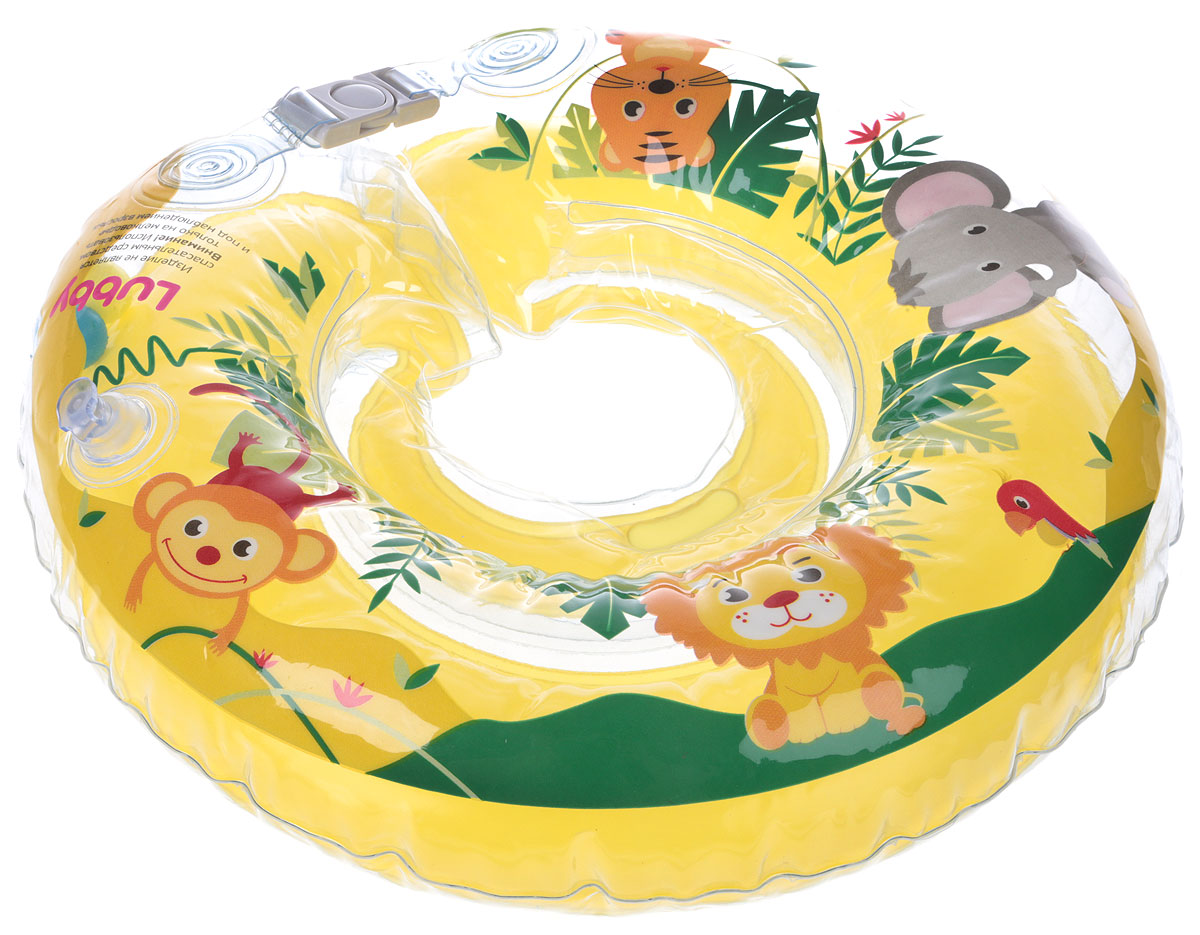 Lubby Круг на шею для купания цвет желтый roxi kids fl002 круг на шею для купания малышей