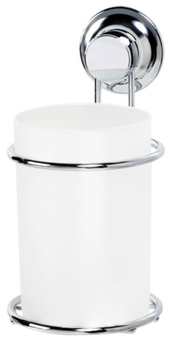 Стакан для ванной комнаты Tatkraft Ring Lock, на вакуумной присоске вешалка для полотенец tatkraft ring lock с выдвижными планками 31 5 х 3 5 х 16 см