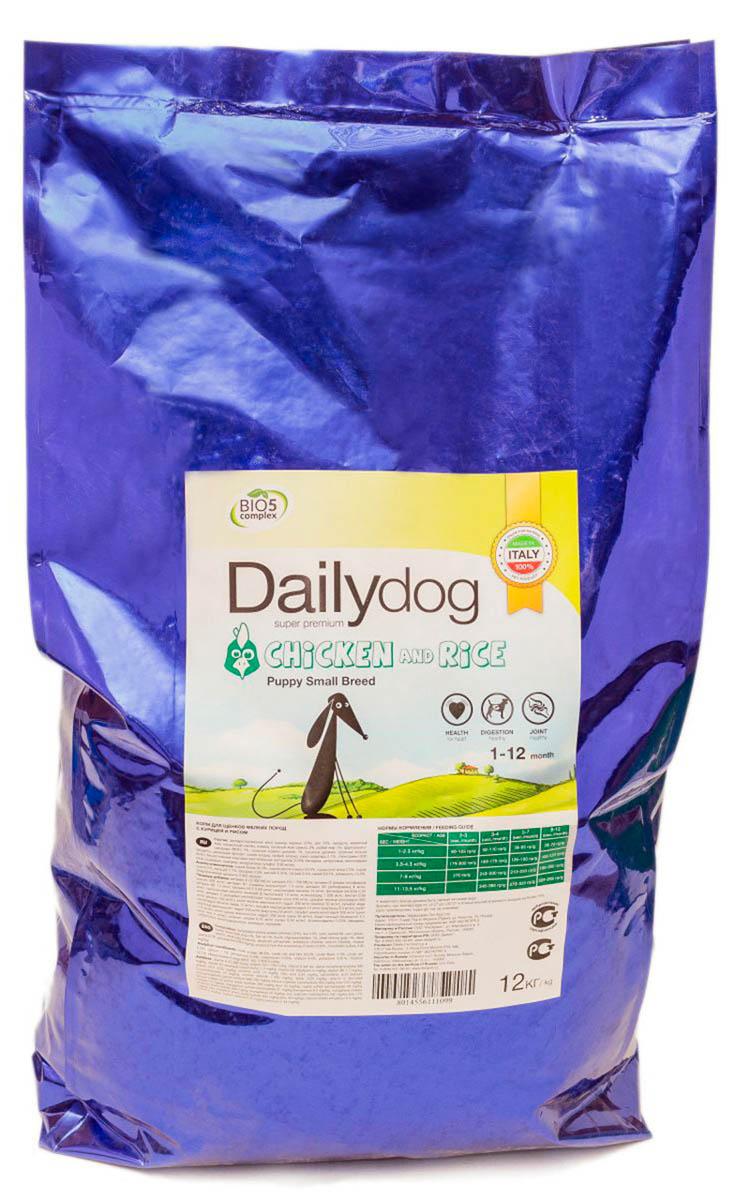 Корм сухой Dailydog  Puppy Small Breed Chicken & Rice , для щенков мелких и миниатюрных пород, с курицей и рисом, 12 кг - Корма и лакомства