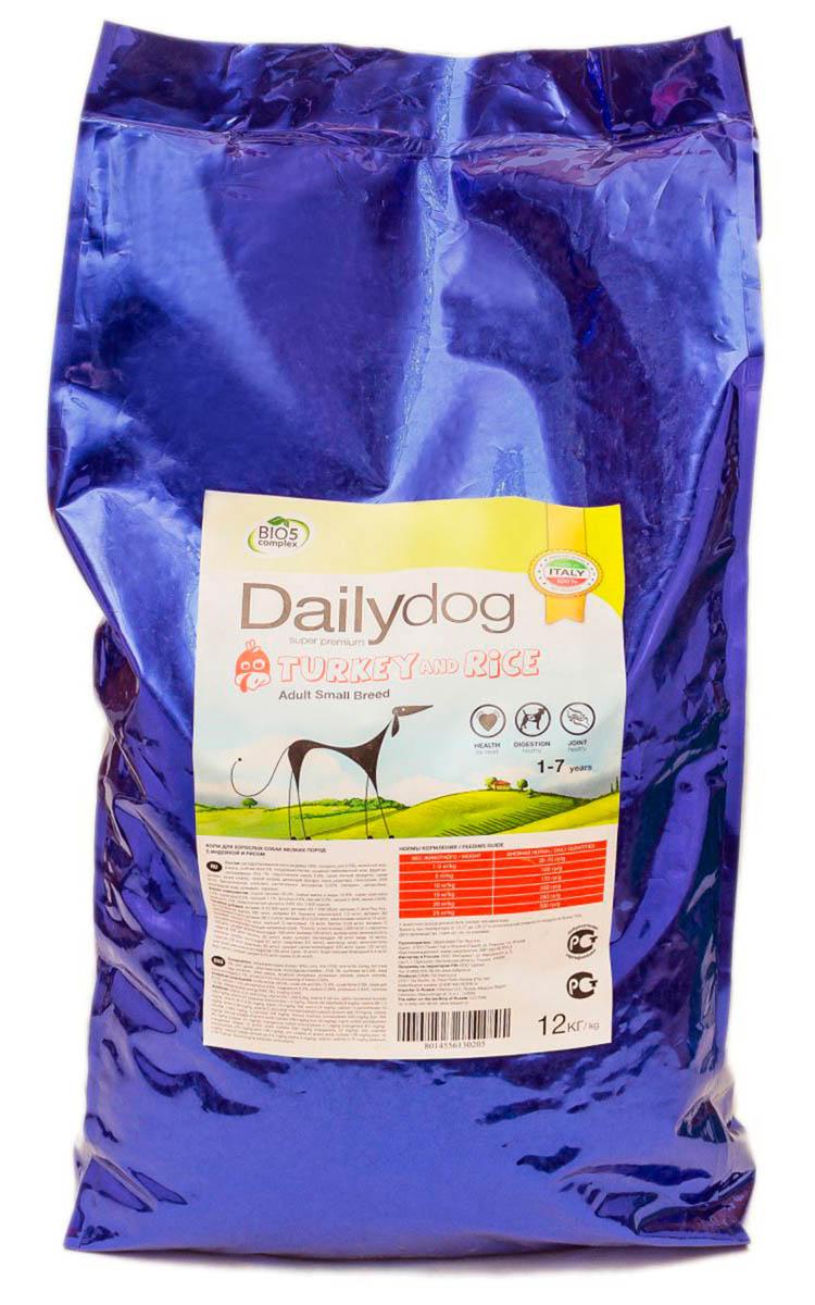 Корм сухой Dailydog  Adult Small Breed Turkey & Rice , для взрослых собак мелких и миниатюрных пород, с индейкой и рисом, 12 кг - Корма и лакомства