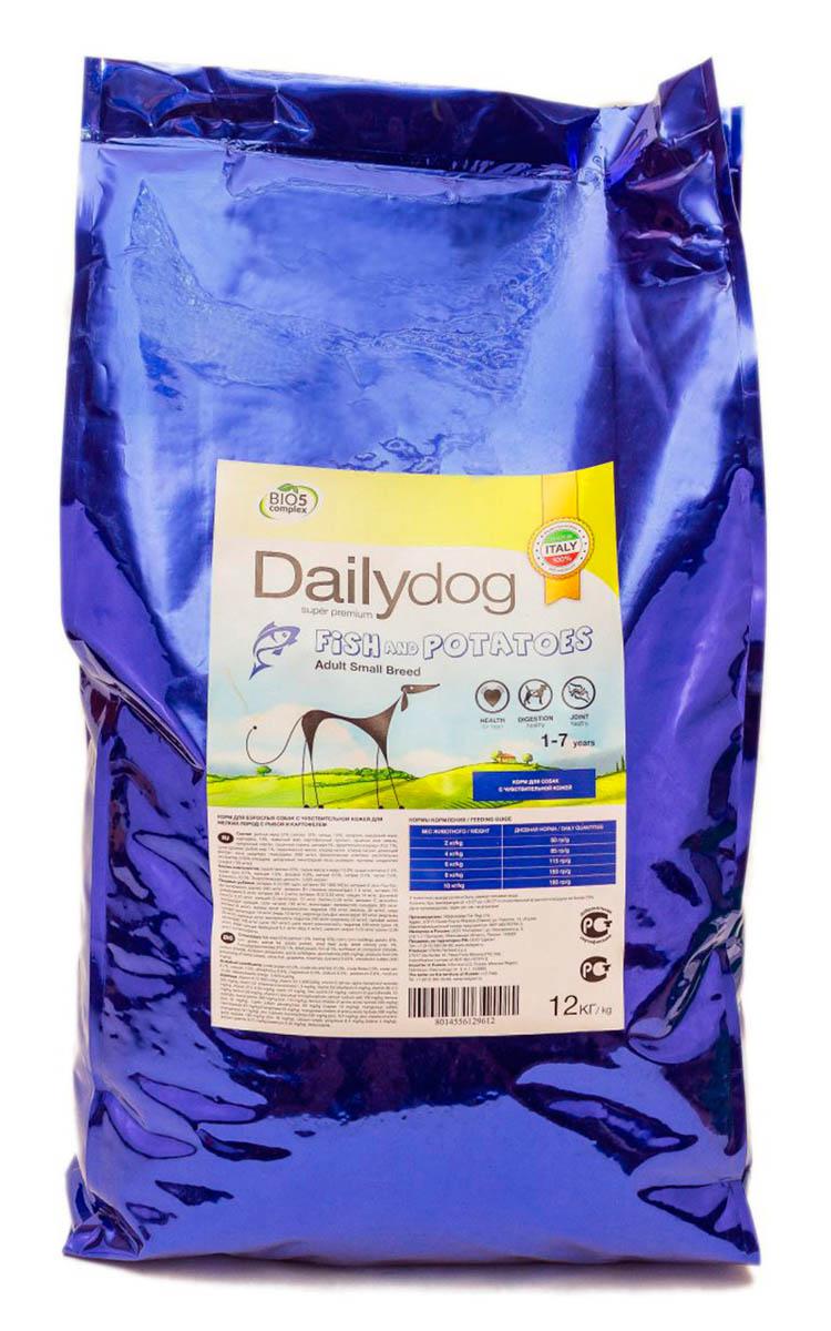 Корм сухой Dailydog  Adult Small Breed Fish & Potatoes , для взрослых собак мелких и миниатюрных пород, с рыбой и картофелем, 12 кг - Корма и лакомства
