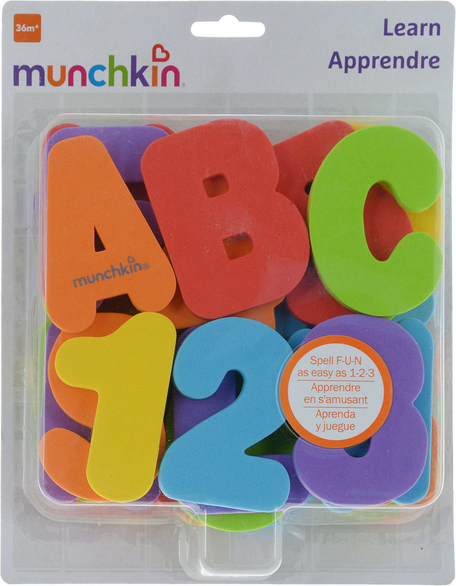 Игрушка для ванны Munchkin Буквы и цифры munchkin органайзер для игрушек в ванной цвет голубой