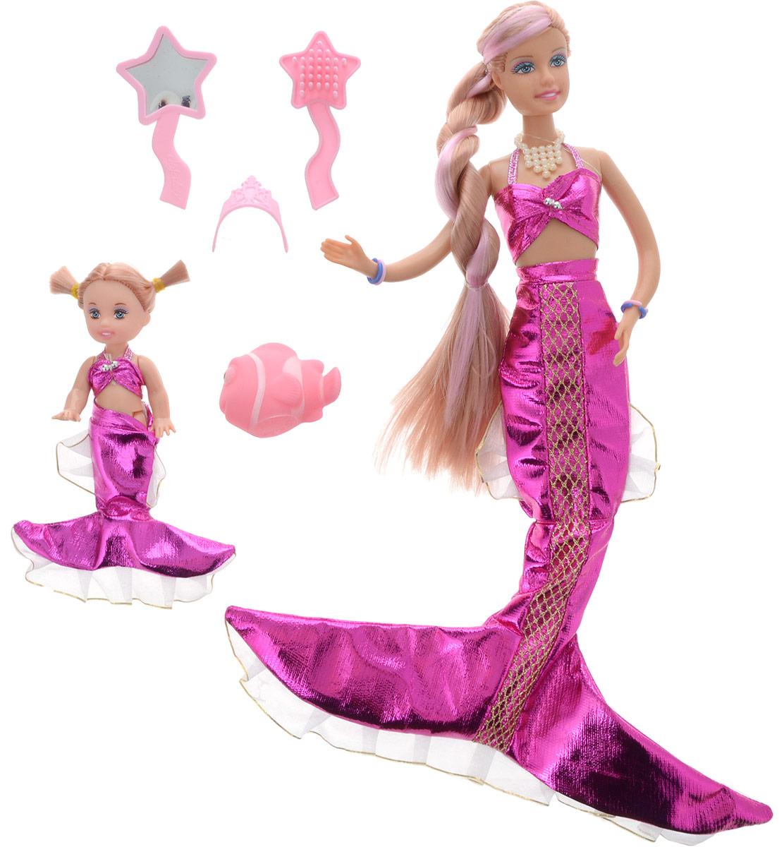 Кукла Defa Русалочка с ребенком и аксессуарами 34 см цвет розовый кукла defa lucy невеста 8341