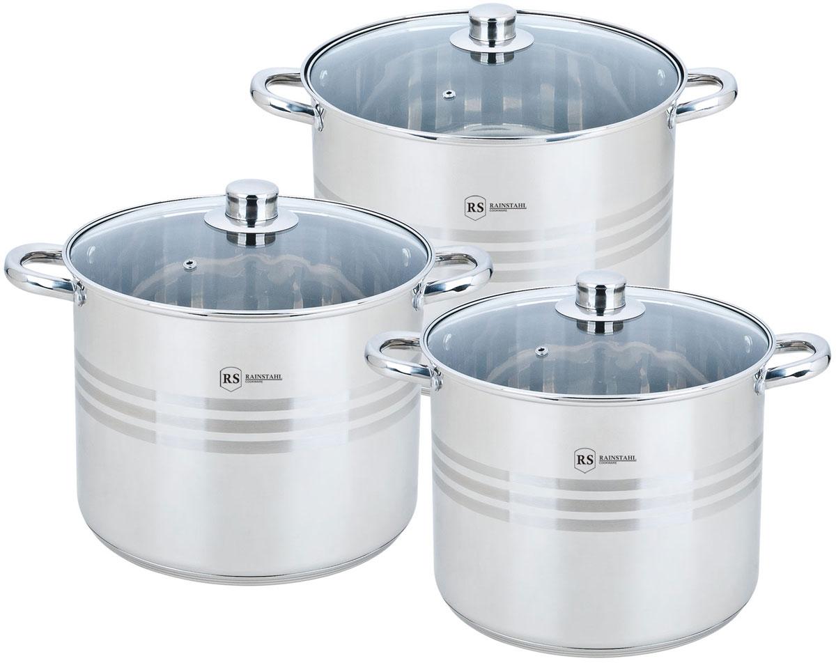 Набор посуды Rainstahl, цвет: стальной, 6 предметов. 2302-06RS/CW BK набор посуды rainstahl 8 предметов 1230 08rs cw bk