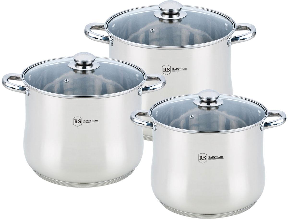 Набор посуды Rainstahl, цвет: стальной, 6 предметов. 2503-06RS/CW BK набор посуды rainstahl 8 предметов 1230 08rs cw bk
