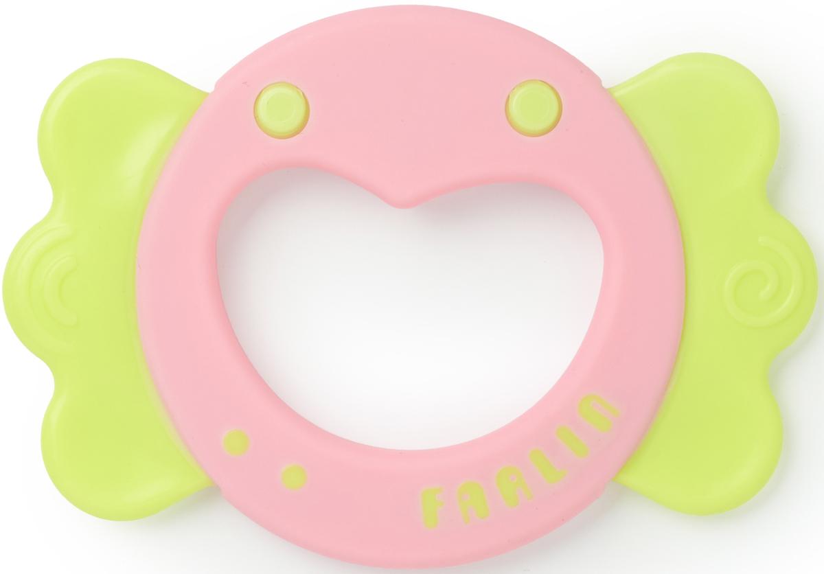 Farlin Прорезыватель Веселое сердечко цвет розовый салатовый прорезыватель munchkin сердечко light blue green