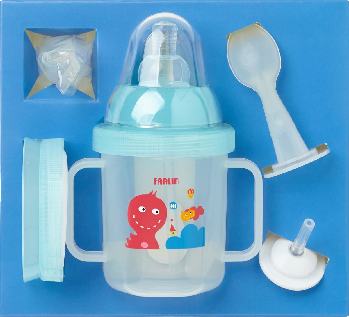 Farlin Поильник-непроливайка тренировочный 4 стадии цвет: голубой - Все для детского кормления
