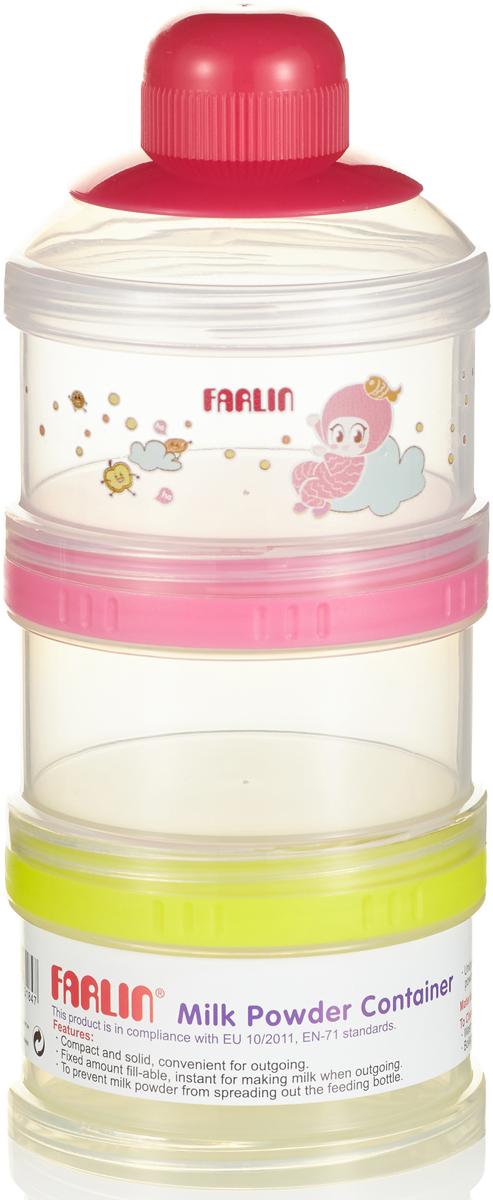 Farlin Набор сборных контейнеров для молока и питания, цвет: мультиколор, 3 шт набор контейнеров p