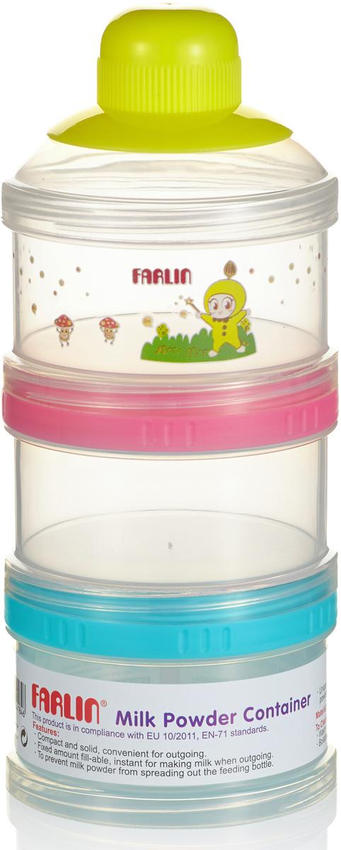 Farlin Набор сборных контейнеров для молока и питания, цвет: мультиколор, 3 шт набор сундучков roura decoracion 3 шт 34745
