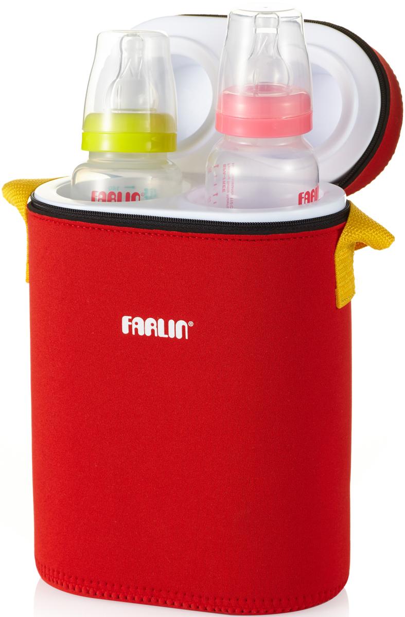 Farlin Термосумка для бутылочек на 2 цвет красный