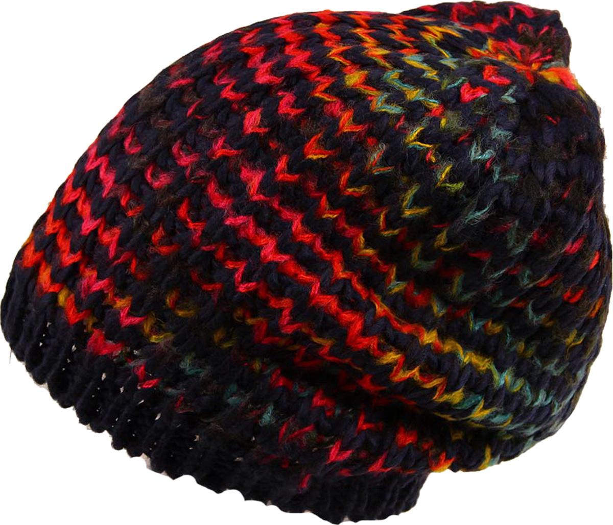 Шапка женская Venera, цвет: темно-синий, красный, желтый. 9806456-24. Размер универсальный шапка женская bradex цвет желтый as 0299 размер универсальный
