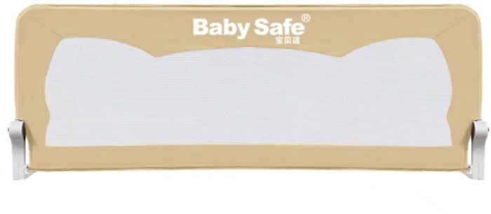 Baby Safe Барьер для кроватки Ушки 180 х 66 см цвет бежевый baby safe барьер для кроватки ушки 180 х 42 см цвет синий
