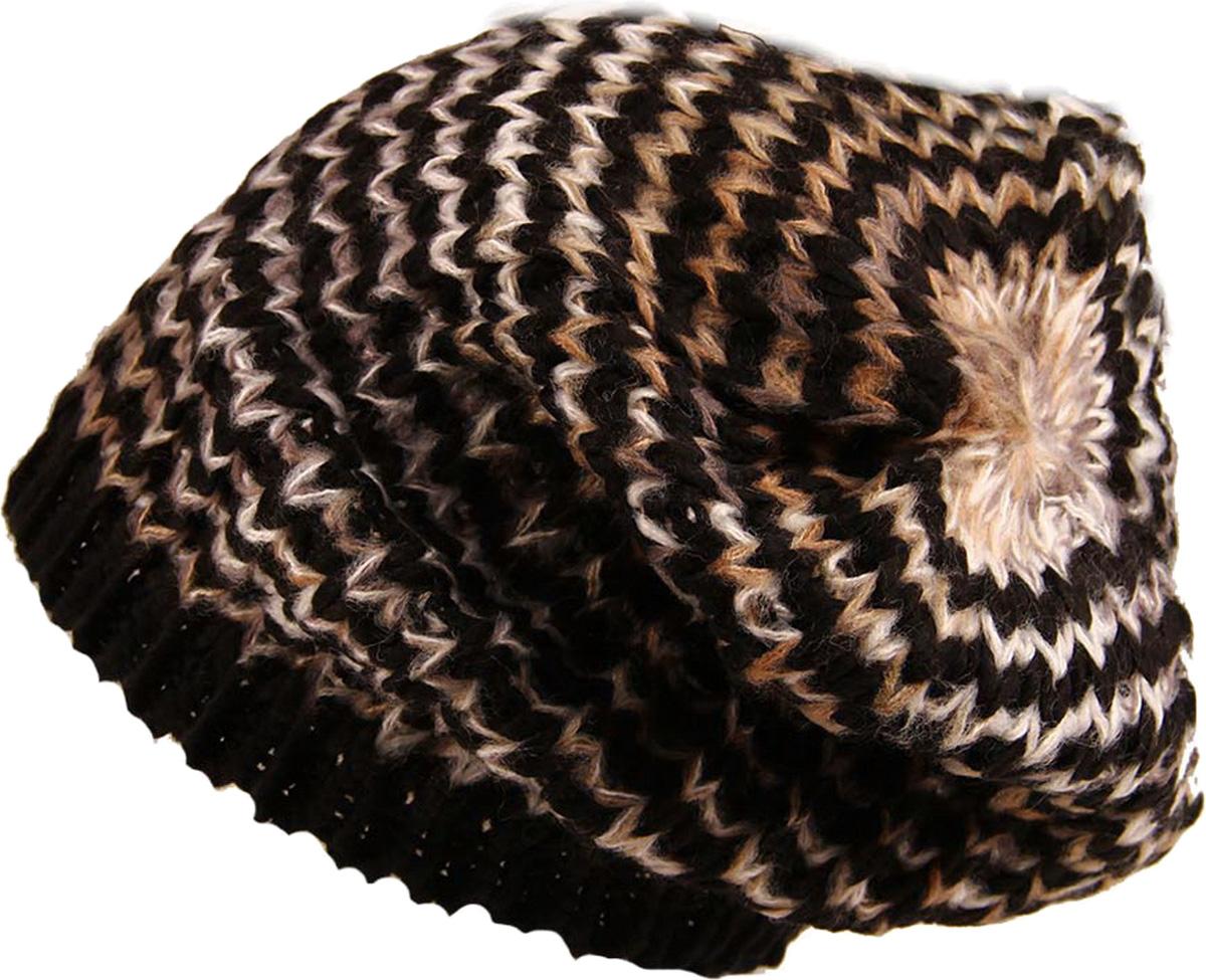 Шапка женская Venera, цвет: черный, бежевый. 9806456-02. Размер универсальный9806456-02 ШапкаСтильная женская шапка Venera, выполненная из комбинированной шерстяной пряжи, станет отличным дополнением вашего образа в холодную погоду. Широкая резинка по низу изделия обеспечивает удобную посадку и идеальное облегание. Шапка Venera отлично дополнит ваш повседневный образ, это универсальный и очень практичный аксессуар.