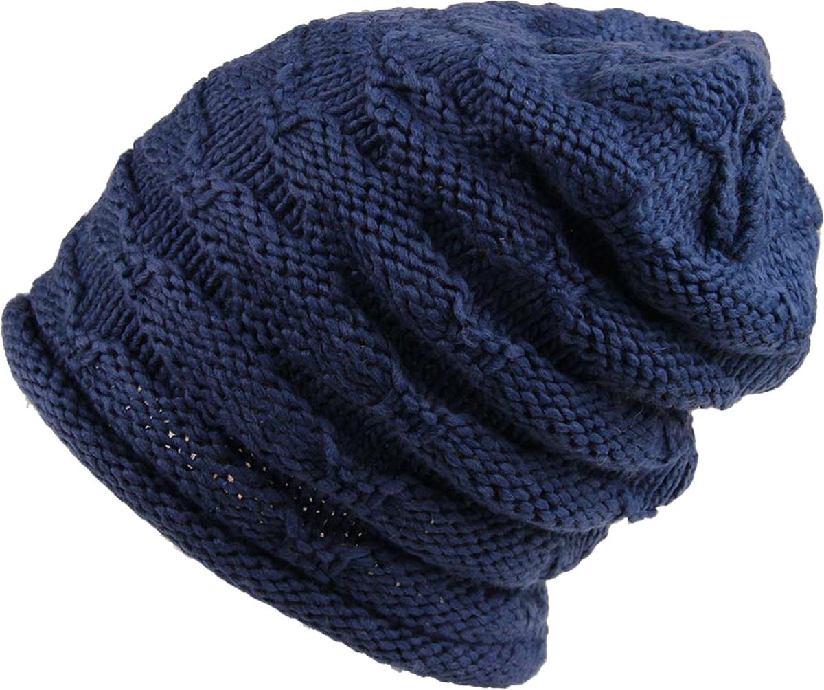 Шапка женская Venera, цвет: синий. 9806156-11. Размер универсальный9806156-11 ШапкаСтильная женская шапка Venera, выполненная из комбинированной пряжи, станет отличным дополнением вашего образа в холодную погоду. Сочетание простой и декоративной вязки создает уникальное изделие. Шапка Venera отлично дополнит ваш повседневный образ, это универсальный и очень практичный аксессуар.