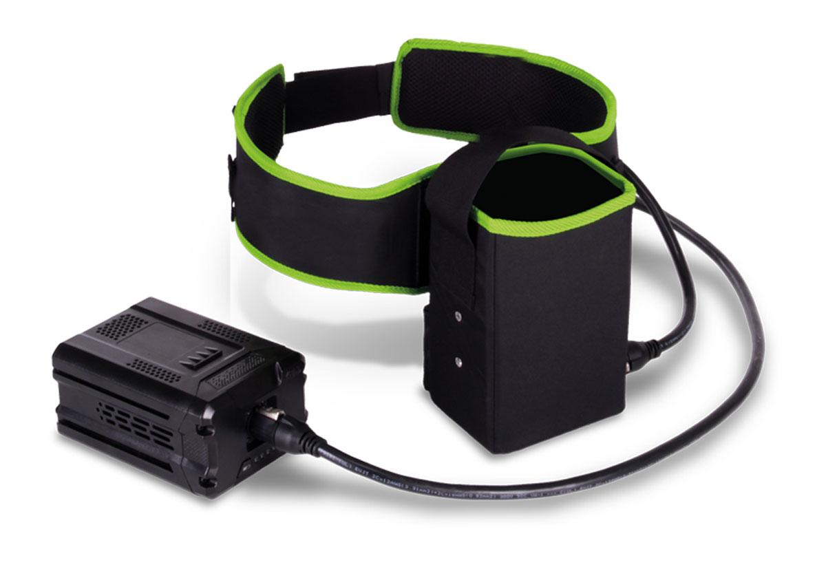 Ремень для аккумуляторов Greenworks, 82В. 29161072916107Ремень для аккумуляторов Greenworks предназначен для переноски аккумуляторной батареи GreenWorks напряжением 82В. Изготовлен из прочного материала, имеет длительный срок службы.Специальный пояс для аккумулятора линейки 82В позволяет переносить вес батареи с устройства на поясницу, разгрузив руки. С таким аксессуаром оператор любого устройства сможет работать дольше и не уставать.