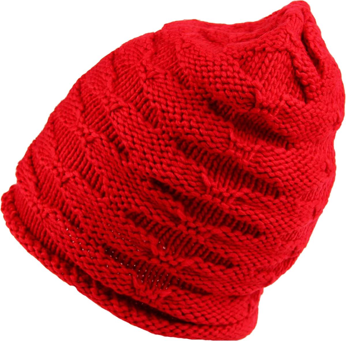 Шапка женская Venera, цвет: красный. 9806156-04. Размер универсальный9806156-04 ШапкаСтильная женская шапка Venera, выполненная из комбинированной пряжи, станет отличным дополнением вашего образа в холодную погоду. Сочетание простой и декоративной вязки создает уникальное изделие. Шапка Venera отлично дополнит ваш повседневный образ, это универсальный и очень практичный аксессуар.