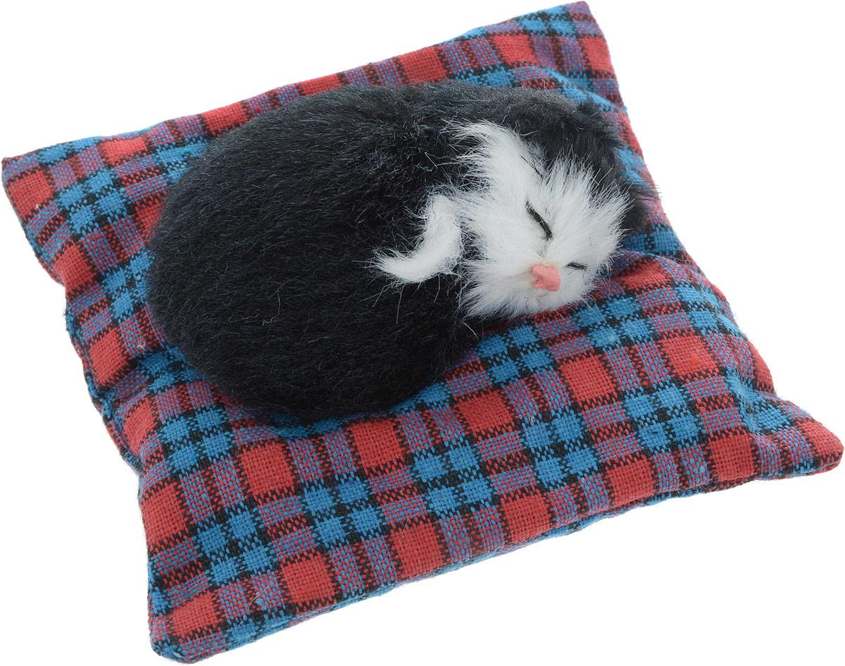 Vebtoy Фигурка Лежачий котенок на коврике цвет черный