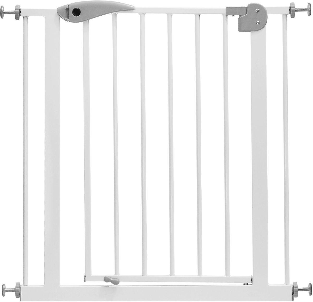 Baby Safe Барьер-калитка для дверного проема 75-85 см цвет белый серый - Безопасность ребенка
