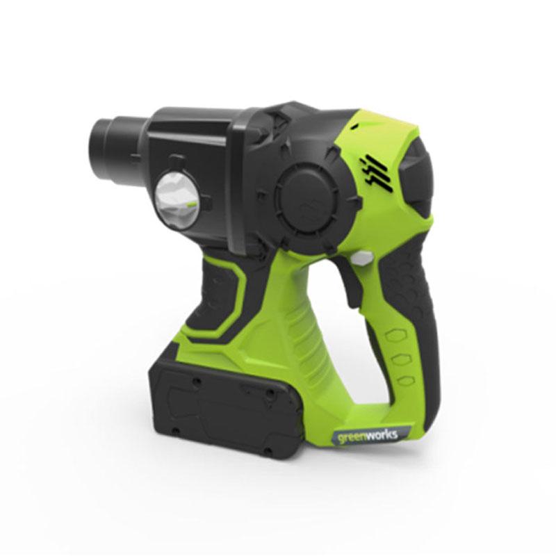 Перфоратор аккумуляторный Greenworks G24HD 24V 38025073802507 Защита от перегреваЗащита от перегрузокАккумуляторная система 24В G24Работает с аккумуляторами Greenworks G24 (арт. 2902707, 2902807) и зарядным устройством G24С (арт. 2903607)Гарантия 2 года