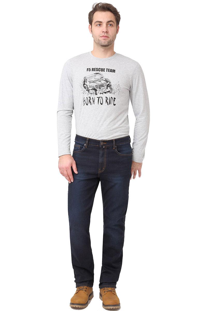 Джинсы мужские F5, цвет: синий. 275025_w.dark. Размер 34-32 (50-32)275025_w.darkСтильные мужские джинсы F5 выполнены из высококачественных материалов. Джинсы застегиваются на металлическую пуговицу в поясе и ширинку на застежке-молнии, имеются шлевки для ремня. Изделие дополнено спереди двумя втачными карманами и одним маленьким накладным кармашком, а сзади - двумя накладными карманами. Оформлена модель контрастной прострочкой и сзади на поясе фирменной нашивкой.