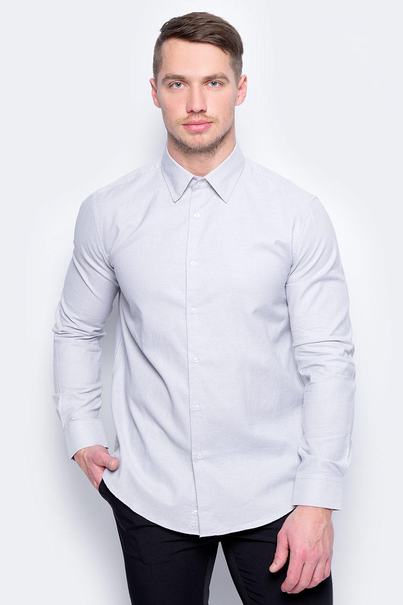 Рубашка муж United Colors of Benetton, цвет: серый. 5UW35QED8_903. Размер M (48/50) рубашка мужская system of hegemony zb zm6085 2015