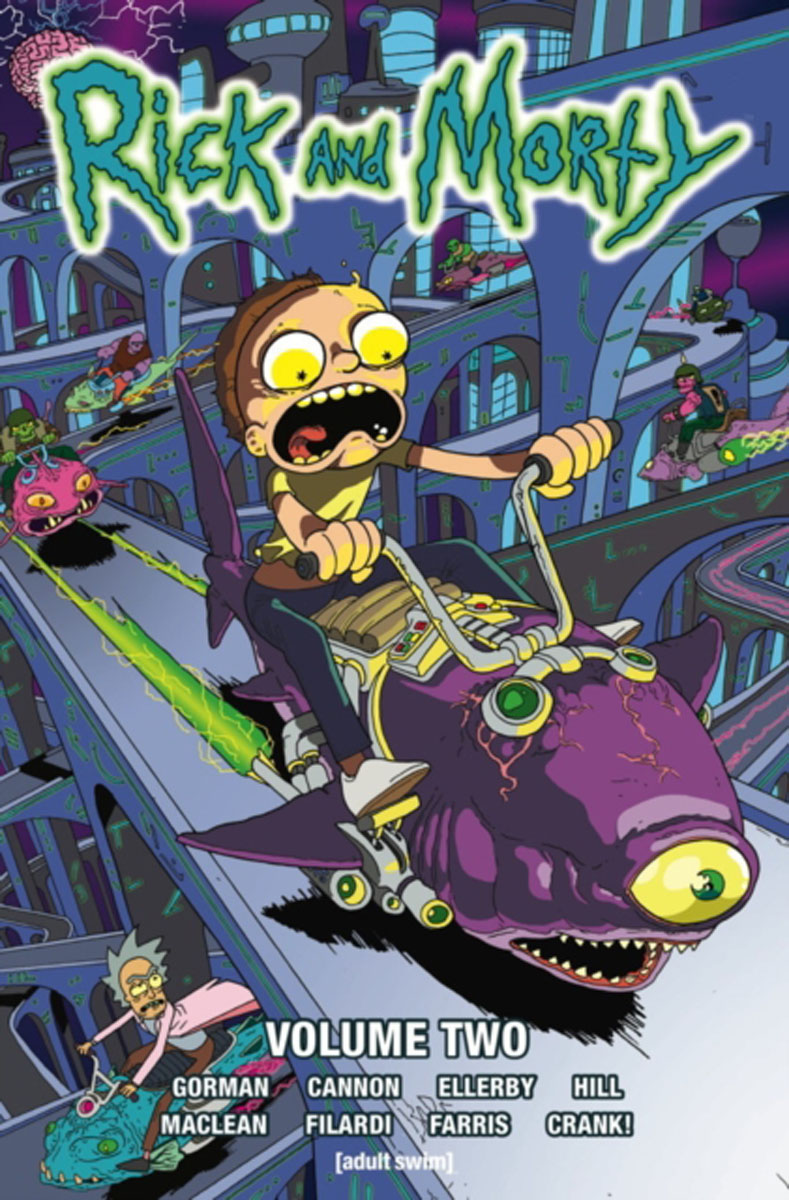 Rick and Morty Volume 2 jerry and the joker adventures and comic art