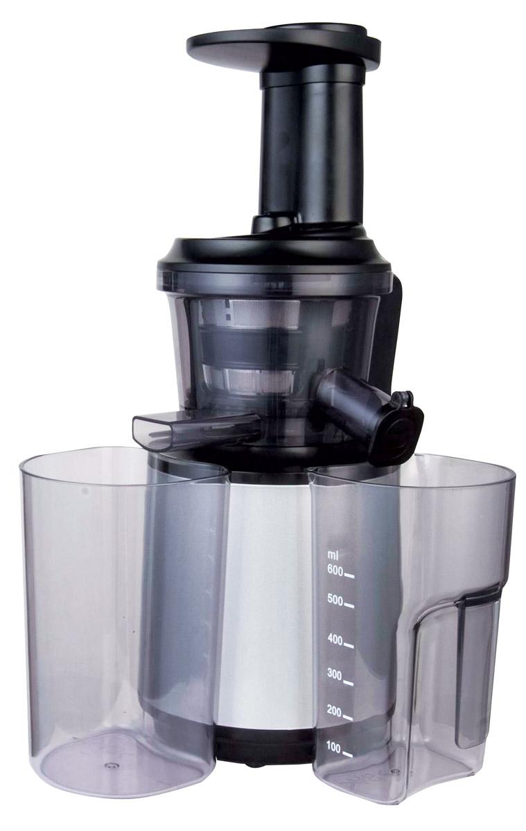 Gemlux GL-SJ8150 соковыжималкаGL-SJ8150Вертикальная шнековая соковыжималка Gemlux Gemlux GL-SJ8150 относится к категории Slow Juicers (SJ). Она перерабатывает сырье путем медленного отжима (скорость вращения шнека составляет 70 оборотов в минуту). Этот тип отжима часто называют холодным, поскольку продукт не нагревается и не окисляется, как это неизбежно происходит в высокоскоростных центробежных устройствах. Соковыжималка Gemlux GL-SJ8150 позволяет получать живой сок с максимальным содержанием полезных веществ, без пены и расслоения, в том числе и из тех видов сырья, с которыми центробежные соковыжималки справляются плохо или не справляются вовсе: мягких плодов и ягод, листовых овощей, зелени, хвои, пророщенных злаков и даже замоченных орехов. Однако любителям прозрачных осветленных напитков следует иметь в виду, что соки из шнековой соковыжималки содержат большое количество мякоти и часто бывают похожими на пюре. Двигатель с высоким крутящим моментом, полностью металлическая трансмиссия и шнек усовершенствованной запатентованной конструкции обеспечивают надежность, экономичность и высокий выход сока (до 78% в зависимости от вида сырья). Уровень шума при работе соковыжималки достаточно низкий (не более 75 дБ). Оборудование легко разбирается и чистится.