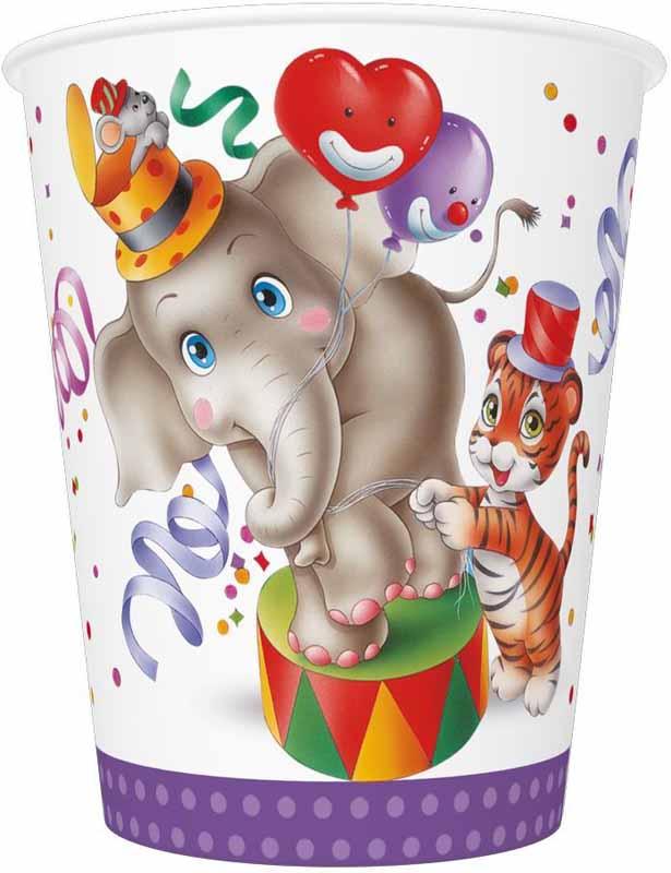 """Детское торжество станет ярче и веселее с набором для праздника Pol-Mak  """"С Днём Рождения"""". В нем 8 стаканов объемом 250 мл. Изготовленные из картона, они являются  безопасными для здоровья. Стаканы прекрасно справляются со своей задачей: удерживают напитки, не  промокают и не протекают. Они почти невесомы, не могут разбиться и не нуждаются в мытье.  Подходят для горячих и холодных напитков. Материал: картон 210 г/м2; Высота стакана: 90 мм; Верхний диаметр стакана: 80 мм; Нижний диаметр стакана: 55 мм.  Продукция Pol-Mak сертифицирована и отвечает международным  стандартам безопасности и качества. При производстве посуды компания Pol- Mak использует краски на водной основе."""