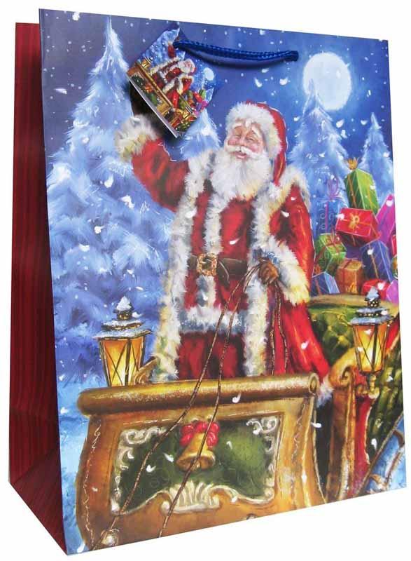 Eureka Пакет подарочный Новый Год 33 x 45,5 x 10 см EUX/140404 -  Подарочная упаковка