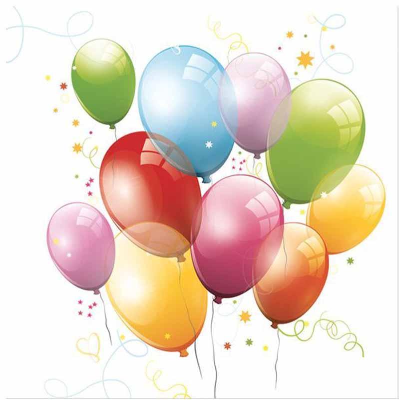 Салфетки Pol-Mak  Daisy Разноцветные шарики , трехслойные, 33 х 33 см, 20 шт - Сервировка праздничного стола