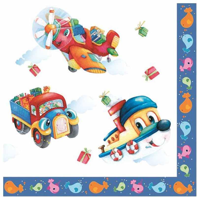 Салфетки Pol-Mak  Daisy Любимые игрушки , трехслойные, 33 х 33 см, 20 шт - Сервировка праздничного стола