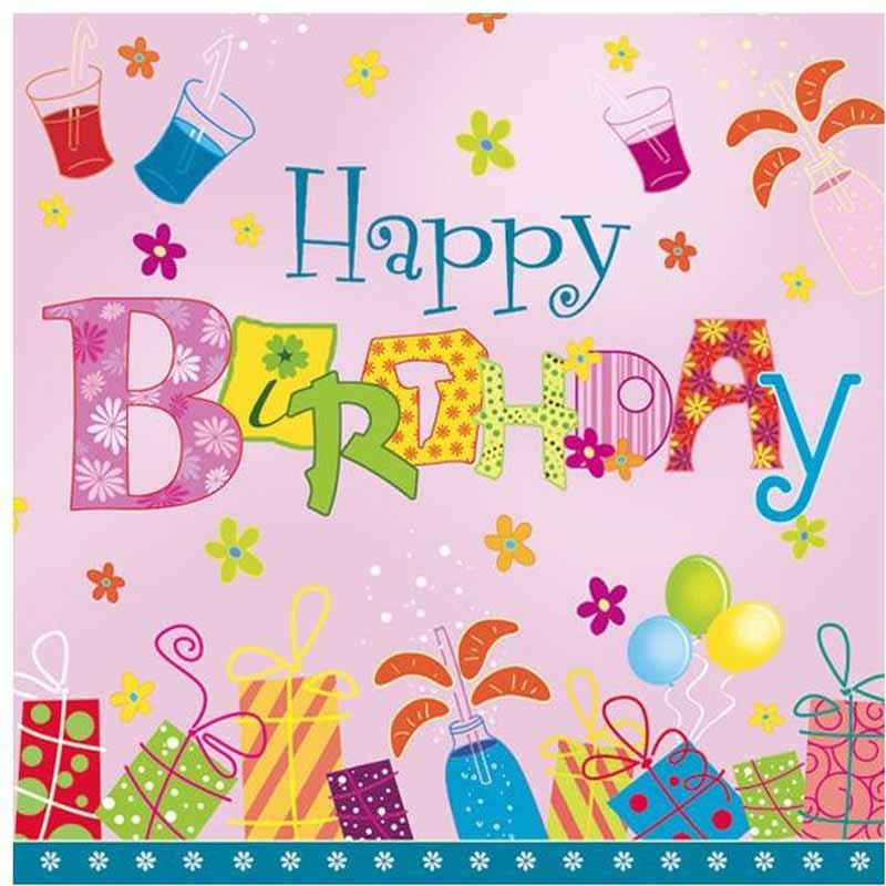 Салфетки Pol-Mak Maki Happy Birthday, трехслойные, 33 х 33 см, 20 шт гирлянда алфавит винни happy birthday