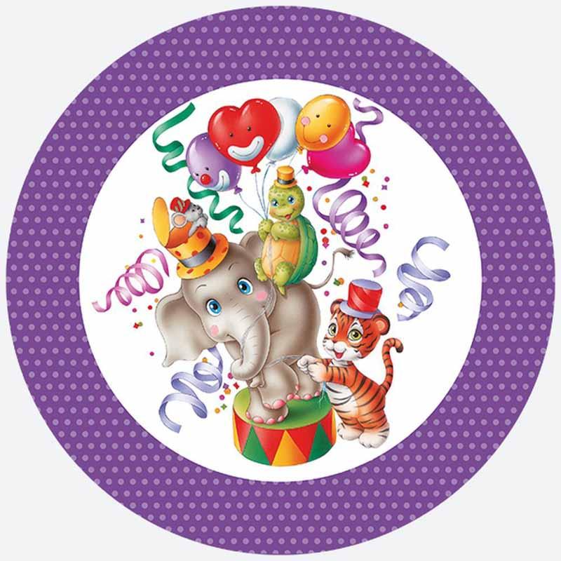 Pol-Mak Тарелки С Днем Рождения диаметр 23 см 8 шт T02OG24255 - Сервировка праздничного стола