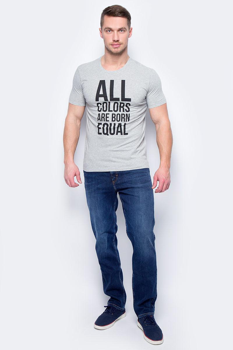 Майка муж United Colors of Benetton, цвет: серый. 3096J10F3_501. Размер M (48/50)3096J10F3_501