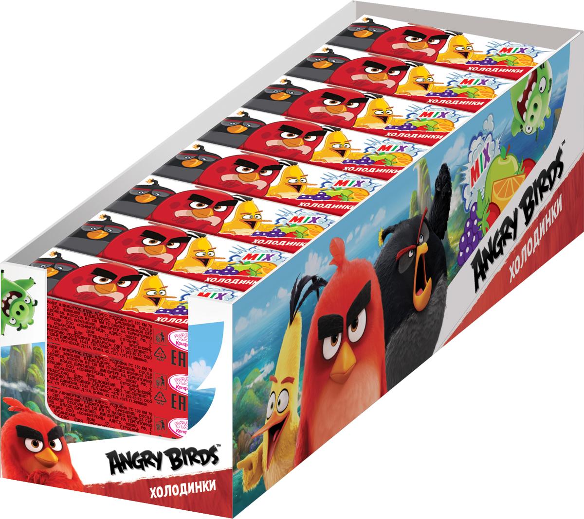 Конфитрейд Angry Birds Movie драже холодинки, 40 шт по 17 г angry birds movie карамель леденцовая с кислой пудрой 48 шт по 10 г