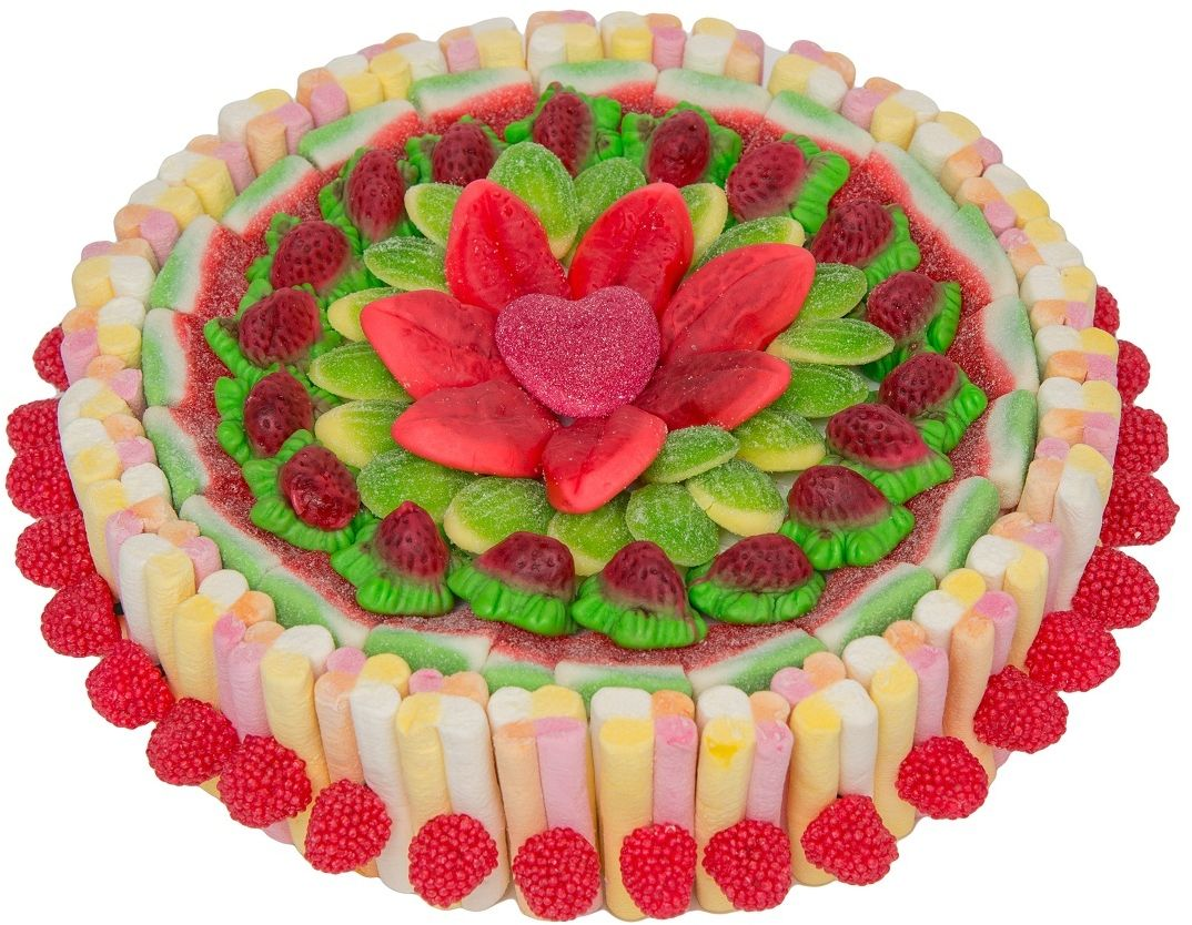 Торт набор жевательного мармелада и зефира, 750 г0071022022Восхитительный набор европейского премиального жевательного мармелада и маршмеллоу, выполненный в форме торта, станет изысканным украшением праздничного стола, или сладким подарком, который не оставит никого равнодушным.В наборе используется несколько видов мармелада разных вкусов и форм, гармонично сочетающихся между собой, что позволяет в полной мере насладиться разнообразием полезного лакомства!Подарочная упаковка в форме трюфеля, с атласной лентой и бантом делает набор торжественным, а праздничный образ завершенным.Уважаемые клиенты! Обращаем ваше внимание, что форму кондитерскому изделию придает пенопласт, находящийся в центре торта.