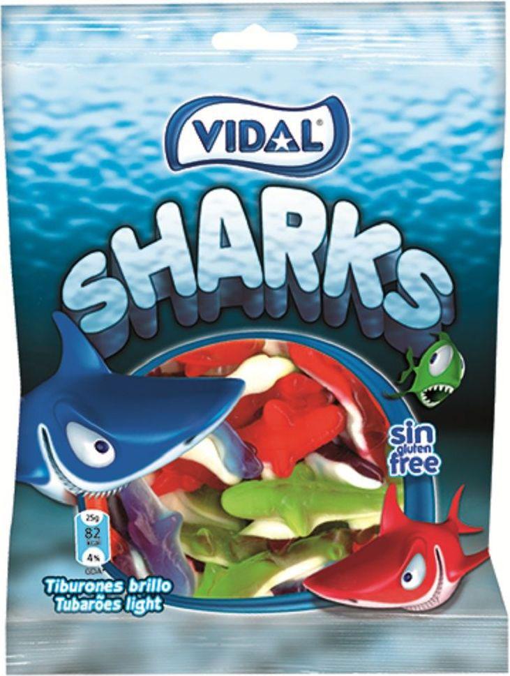 Vidal Акулы жевательный мармелад, 70 г масло