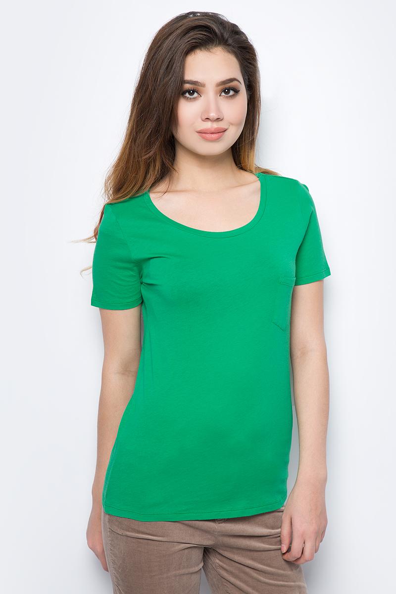 Фото - Футболка женская United Colors of Benetton, цвет: зеленый. 3I97E1F45_07K. Размер M (44/46) плавки united colors of benetton united colors of benetton un012ewacdk6